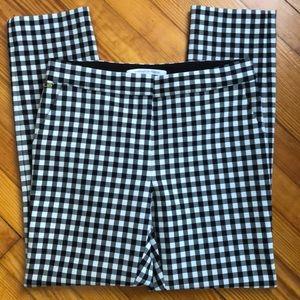 Diane Von Furstenberg DVF Gingham Check Pants 8